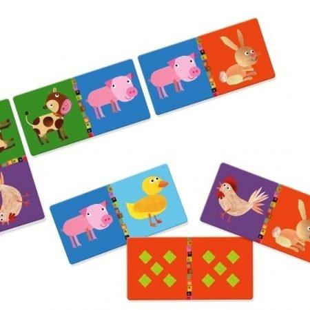 Kinderspel domino dieren Djeco