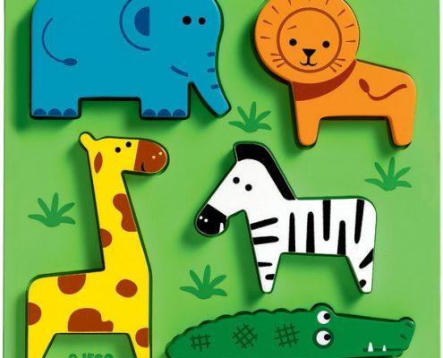 Houten puzzel dieren Djeco
