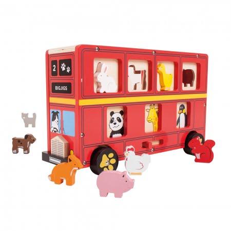 Engelse bus met dieren