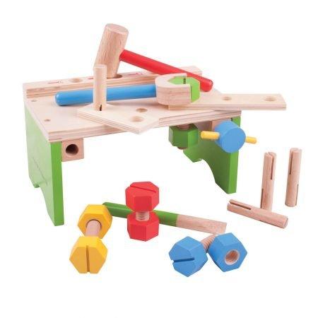 houten werkbankje met gereedschap Bigjigs