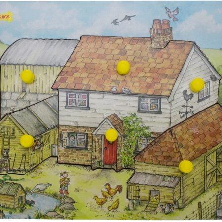 houten puzzel boerderij Bigjigs