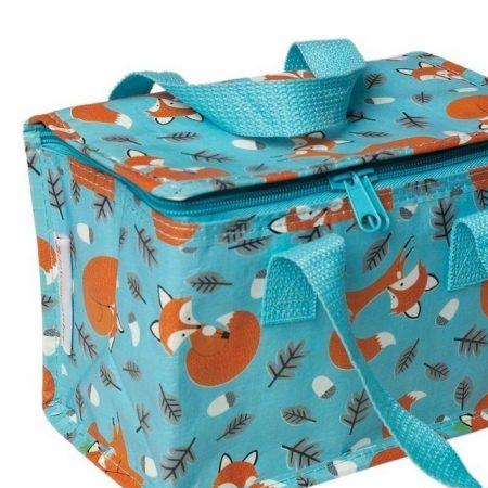 Lunchbag vosjes blauw