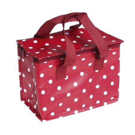Lunchbag rode en witte stippen