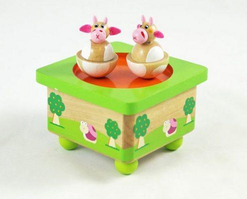 houten muziekdoosje koe simply for kids