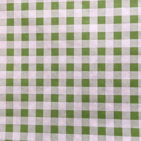 inpakpapier groen wit geblokt
